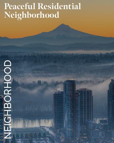 Peaceful residential neighborhood at Marquam Heights in Portland, Oregon