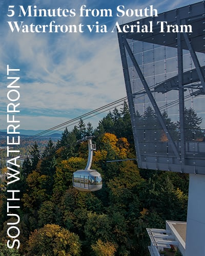 Take the aerial tram to South Waterfront at Marquam Heights in Portland, Oregon