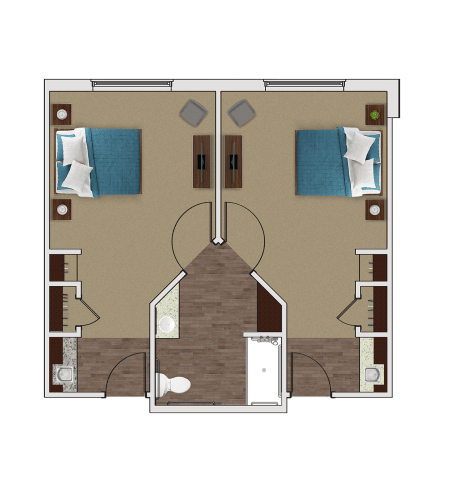 Memory Care Companion Suite at Stonecrest of Troy