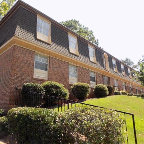 Brick apartment buildings at Westwood Apartments in Albany, Georgia