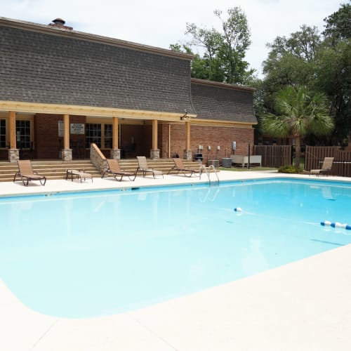 Resort-style swimming pool at Westwood Apartments in Albany, Georgia