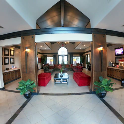 Grand foyer at 2929 Dunvale in Houston, Texas