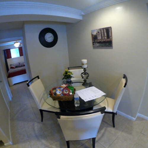 Dining room table at 2929 Dunvale in Houston Texas