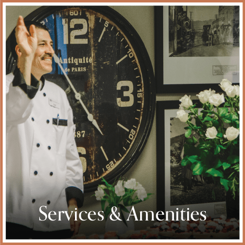 Services and amenities at Magnolia Place in Bakersfield, California
