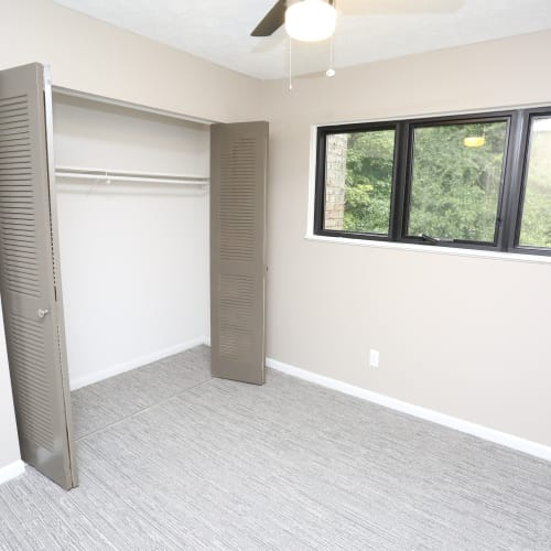 Large bedroom closet at The August Apartments in Lexington, Kentucky