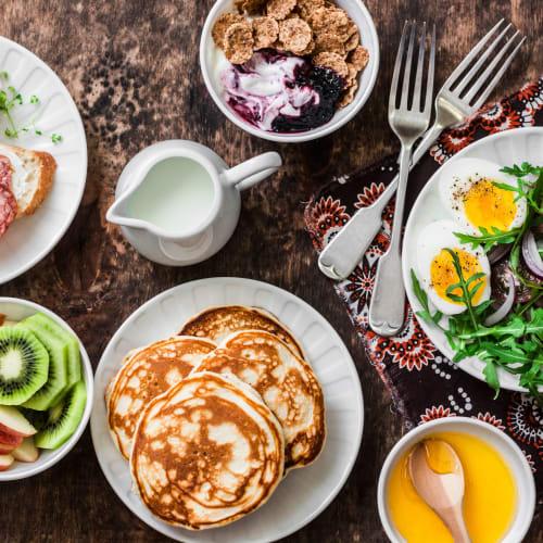 Delicious breakfast spread from a restaurant near Oakwood Apartments in West Carrollton, Ohio