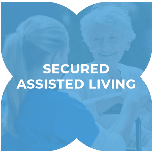 Secured assisted living at Harmony at Greensboro in Greensboro, North Carolina