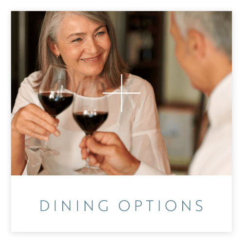 View the dining options at Regency Palms Long Beach in Long Beach, California