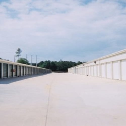 Drive-up storage units at A Storage of Daphne in Daphne, Alabama