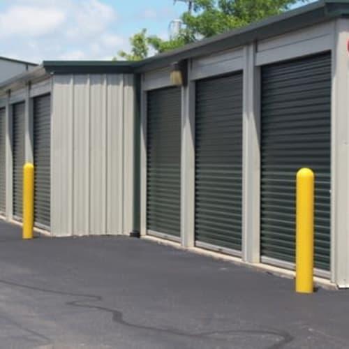 Drive-up exterior storage units at Michigan Storage Centers in Farmington Hills, Michigan