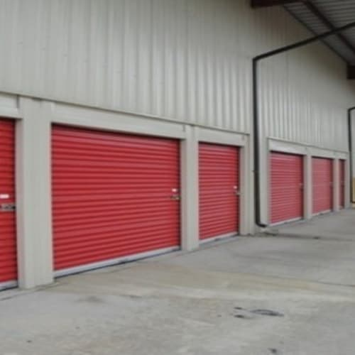 Roll up doors on units at Michigan Storage Centers in Oak Park, Michigan
