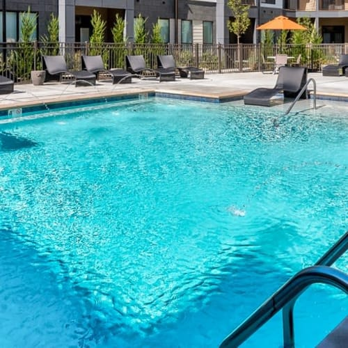 Swimming pool at Alexander Pointe Apartments in Maineville, Ohio