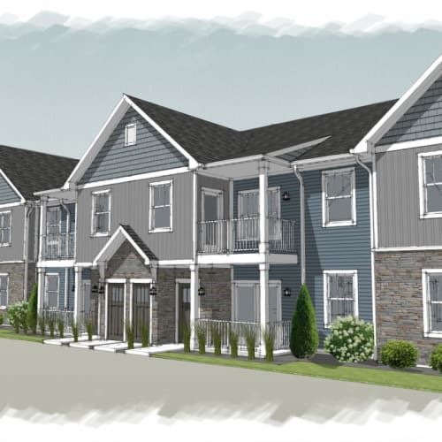 Exterior rendering of Alexander Pointe Apartments in Maineville, Ohio