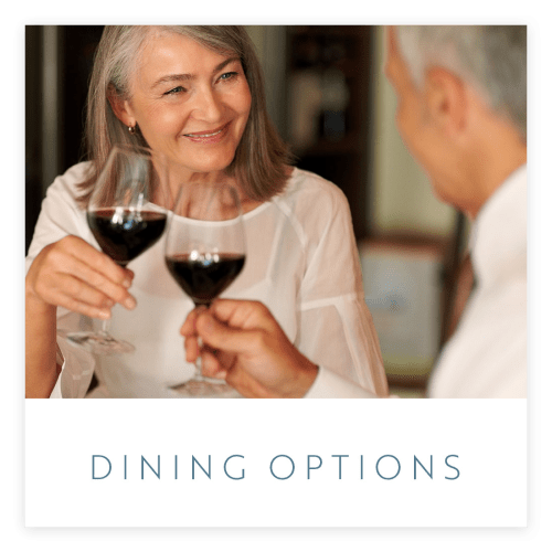 View the dining options at Estancia Senior Living in Fallbrook, California