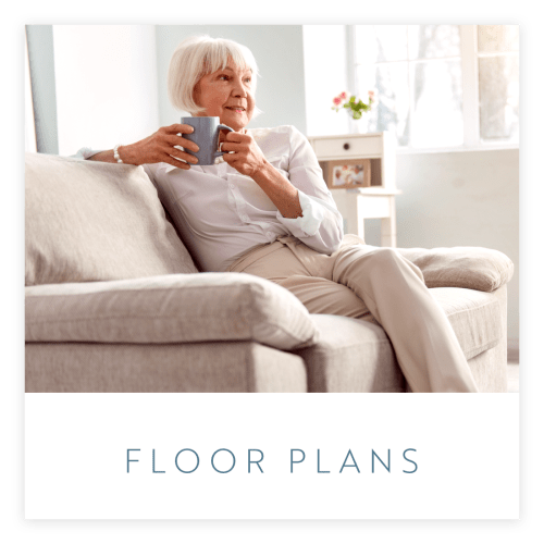View our floor plans at Estancia Senior Living in Fallbrook, California