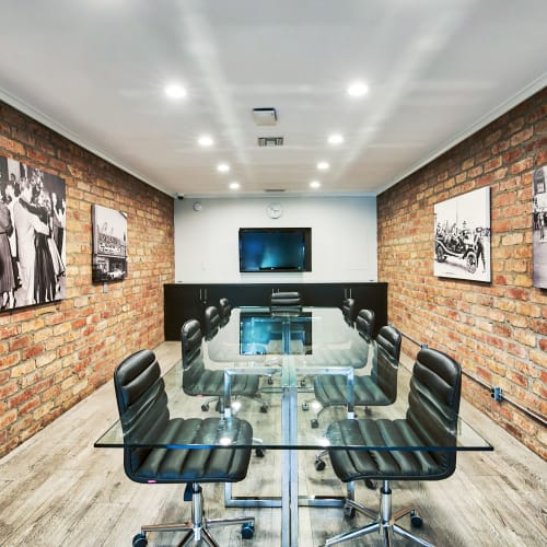 Meeting room for resident use in the business center at The Meadows in Culver City, California