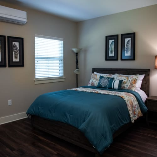 Comfortable bedroom at Westminster Memory Care in Aiken, South Carolina.