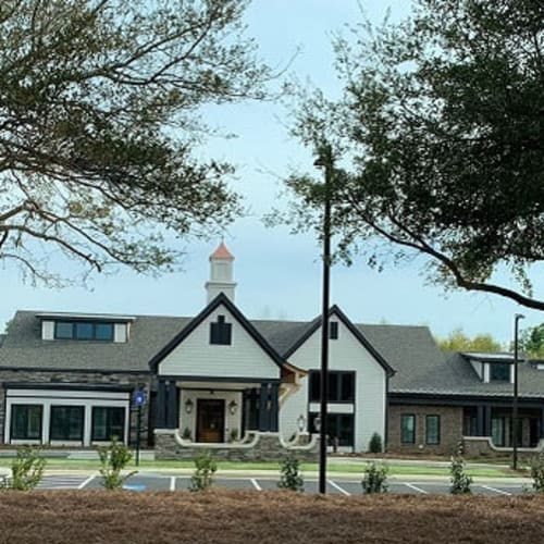Exterior view of entrance to Westminster Memory Care in Aiken, South Carolina