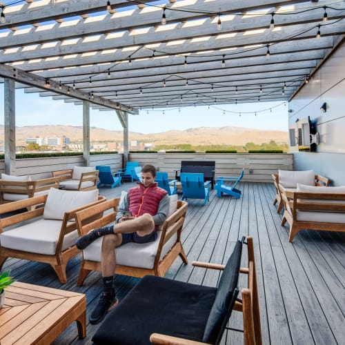 Outdoor lounge at IDENTITY Boise in Boise, Idaho