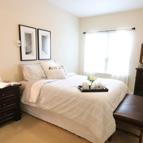 Comfortable and spacious bedroom at The Chamberlin in Hampton, Virginia