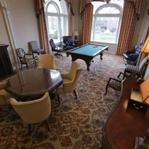 Game room at The Chamberlin in Hampton, Virginia
