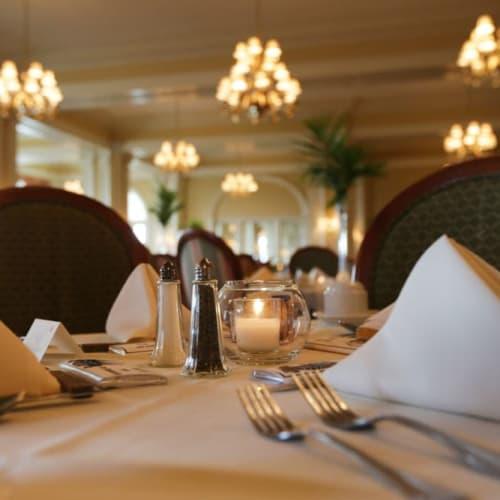 Beautiful dining room at The Chamberlin in Hampton, Virginia