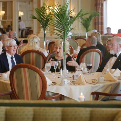 Residents enjoying dinner at The Chamberlin in Hampton, Virginia