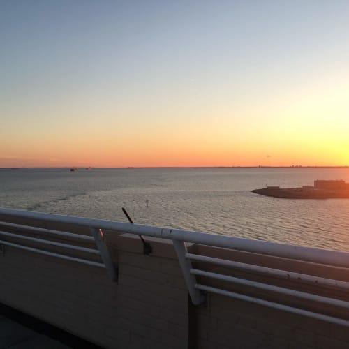 Beautiful sunset view from The Chamberlin in Hampton, Virginia