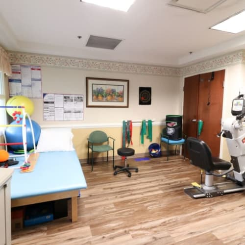 Rehab room at The Crossings at Ironbridge in Chester, Virginia