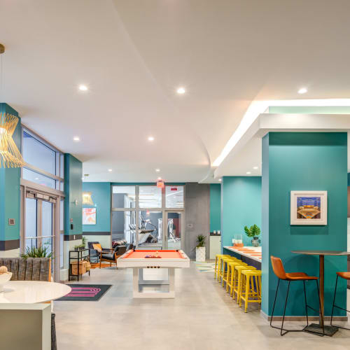 Community study space at IDENTITY Miami in Miami, Florida