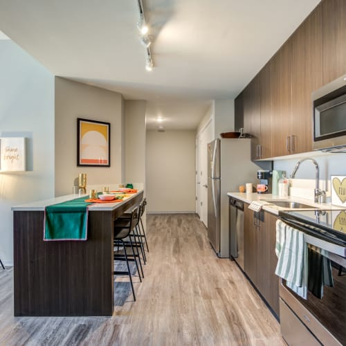 Fully equipped kitchen at IDENTITY Miami in Miami, Florida