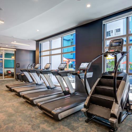 Fitness center with treadmills at IDENTITY Miami in Miami, Florida