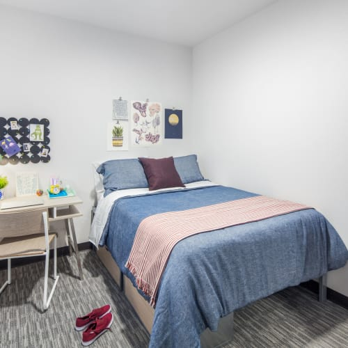 Bedroom with space to study at IDENTITY Reno in Reno, Nevada