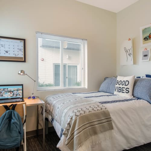 Bright, spacious bedroom at Social 28 in Gainesville, Florida