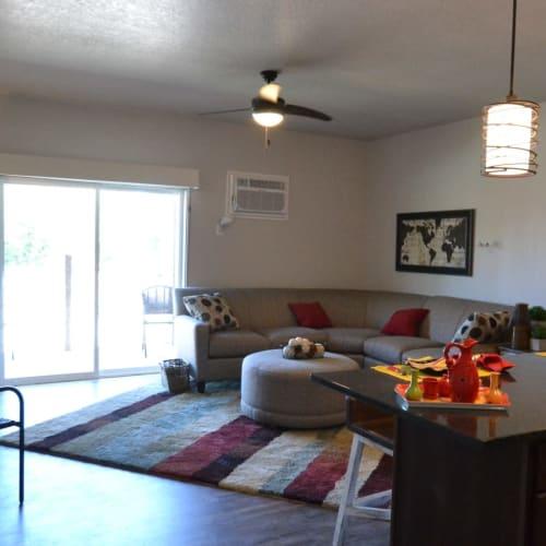 Cozy bedroom at The Phoenix in Ames, Iowa