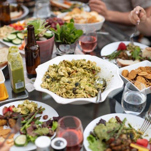 Resident friends enjoying lunch near Mukilteo, Washington near Carvel Harbour Pointe