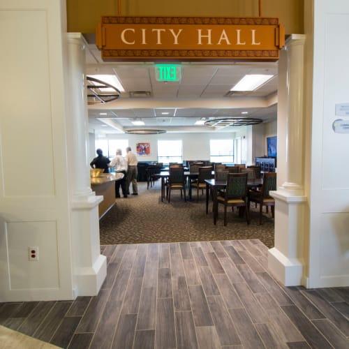 City hall at First & Main of Auburn Hills in Auburn Hills, Michigan