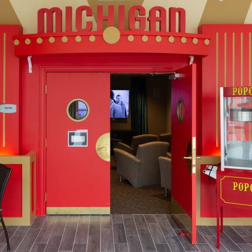 Movie theater at First & Main of Auburn Hills in Auburn Hills, Michigan