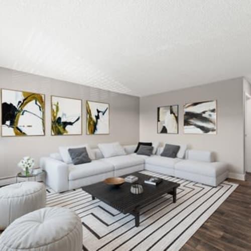 Spacious floor plan at Crestone Apartments in Brighton, Colorado