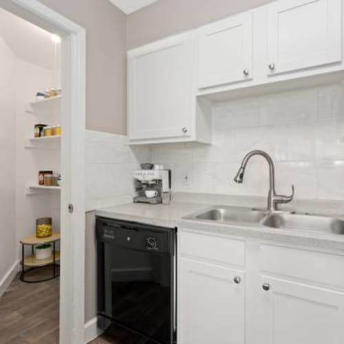Large pantry closet in kitchen at The Phoenix in Brighton, Colorado