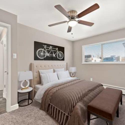 Bedroom at The Phoenix in Brighton, Colorado