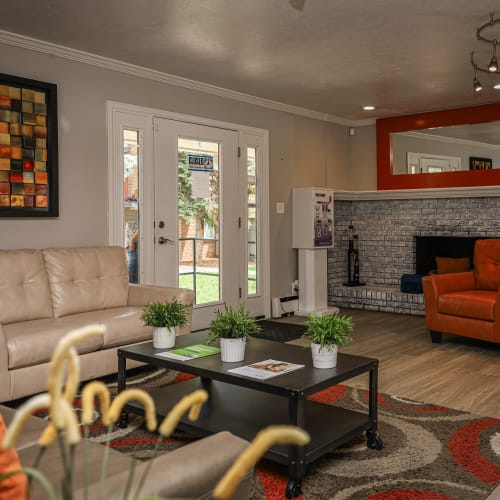 Living room at The Wesley in Denver, Colorado