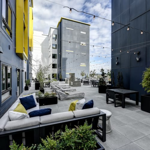 Outdoor Social Lounge at Kinect @ Broadway in Everett, Washington
