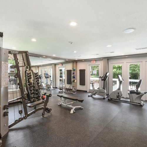 State-of-the-art fitness center at The Alcove in Smyrna, Georgia