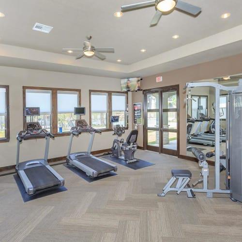 View virtual tour of the fitness center at Verandas at Alamo Ranch in San Antonio, Texas