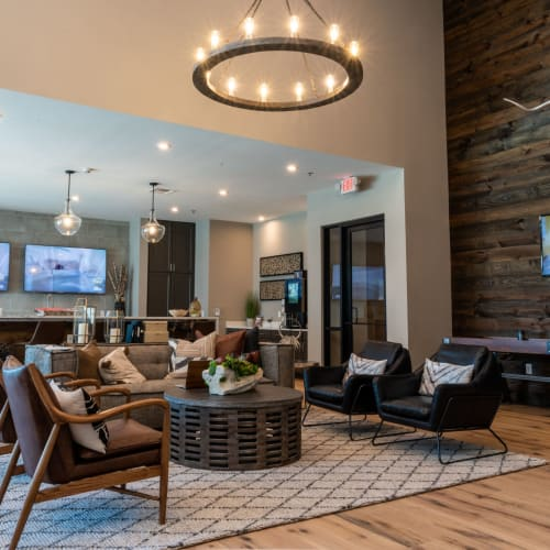 View virtual tour for our Resident Community Clubhouse Shelby at Northside in Fort Worth, Texas