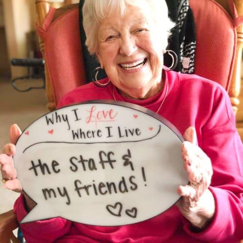 Lovely resident at Oxford Senior Living in Wichita, Kansas