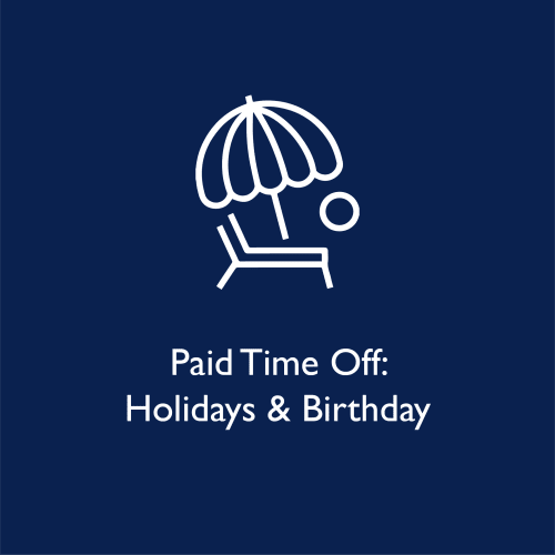 Paid time off holidays and birthdays at WRH Realty Services, Inc