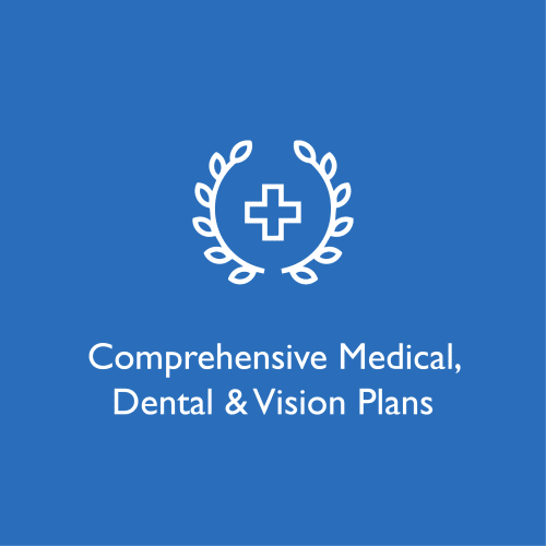 Comprehensive medical, dental and vision plans at WRH Realty Services, Inc
