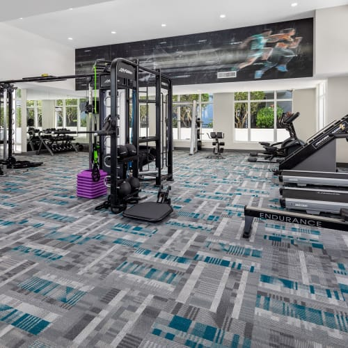 View virtual tour of the fitness center at Midtown 24 in Plantation, Florida